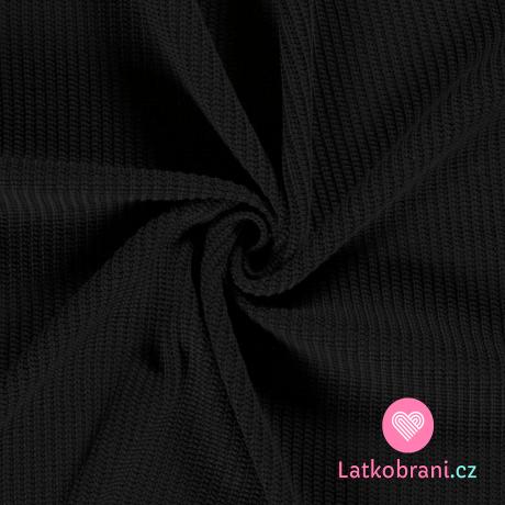 Pletenina, svetrovina černá