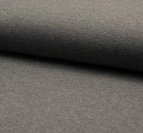 Jednobarevná teplákovina šedá melé tmavější