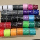 Šňůra kulatá oděvní PES 4 mm fialová střední
