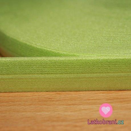 Šikmý proužek / lemovací pruženka zelené jablko