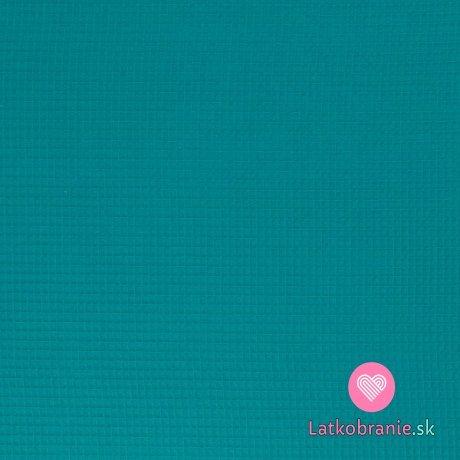 Bavlněná vaflovina jednobarevná tyrkysová
