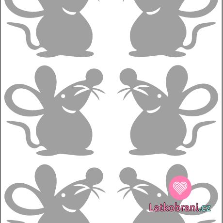 Reflexní nažehlovačka myšky (6ks)