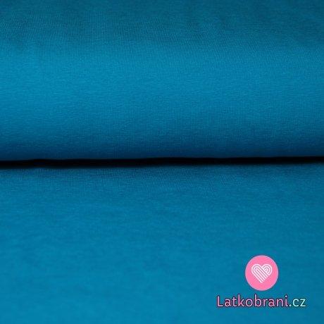 Jednobarevný úplet tyrkys tmavý 220g