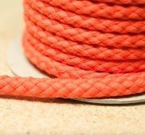 Šňůra kulatá oděvní BAVLNA 9 mm oranžová