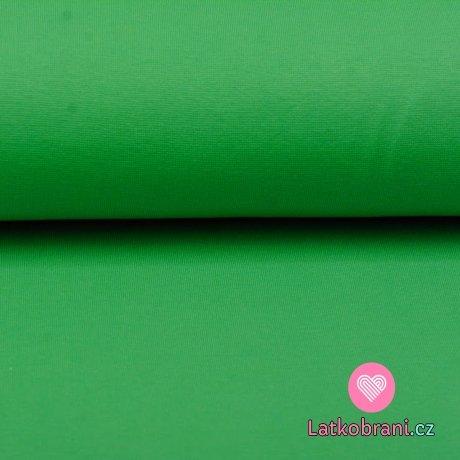 Náplet hladký zelená sytá
