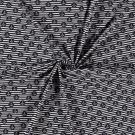Úplet potisk kotvičky v medailonku na bílo - modrých proužcích