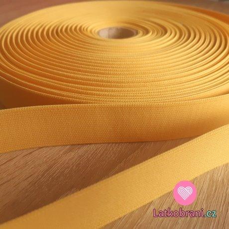 Pruženka barevná žlutá s nádechem do hořčicové 25 mm