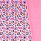 Softshell potisk veselé puntíky na růžové