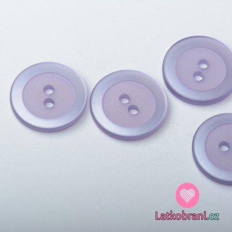 Knoflík kulatý, perleťový, fialový - velký