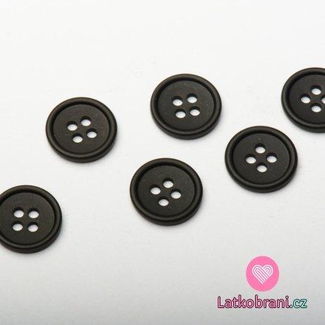 Knoflík oblekový, malý černý