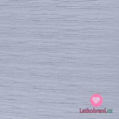 Úplet proužky s plastickým efektem nebesky modrý