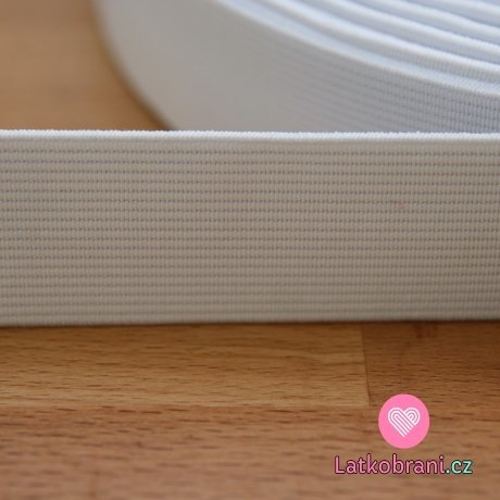 Pruženka plochá bílá 30 mm