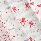 Úplet potisk červené chobotničky na proužcích