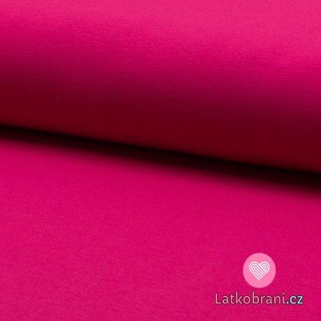 Jednobarevná teplákovina růžová pink
