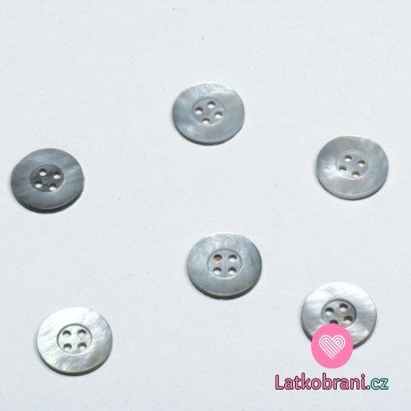 Knoflík kulatý, čtyřdírkový tahita perleť 16mm