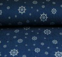 Jeans/Denim námořnický styl kormidlo na modré