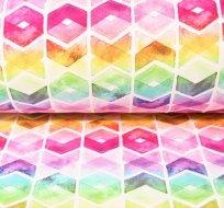 Teplákovina duhové šestiúhelníky