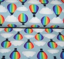 Softshell létající balón na šedo-modré s fleecem