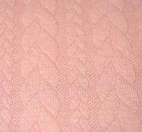 Pletenina copánky růžové s nádechem do starorůžové -ZBYTEK