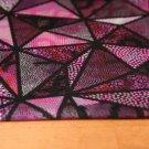 Úplet digitisk mozaikové trojúhelníčky růžové