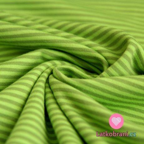 Úplet proužky zelené se světle zelenou (malé)
