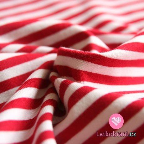 Úplet proužky červené s bílou stejně široké střední