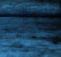 Bordura teplákovina zemina modrá sytější
