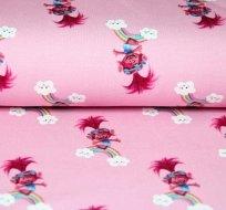 Teplákovina Troll Poppy na růžové