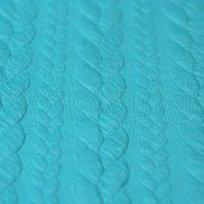 Pletenina copánky modrá aqua tyrkys