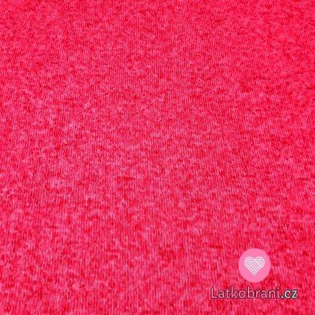 Svetrovina melé růžová malina s růžovou neónovou