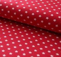 Úplet hvězdy bílé na červeném podkladu