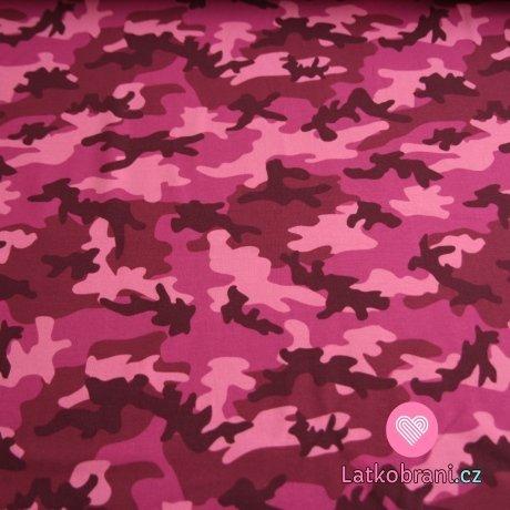 Úplet maskáč růžový -ZBYTEK