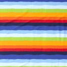 Teplákovina potisk kostrbaté barevné proužky