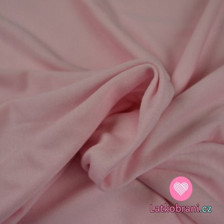 Viskózový jednobarevný úplet růžový (baby)