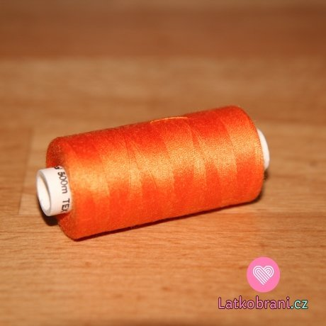 Nitě hagal - oranžová výrazná 500 m (14x2)