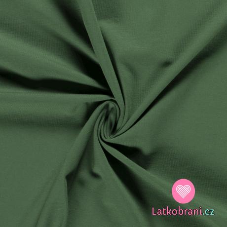 Úplet jednobarevný khaki zelený světlejší