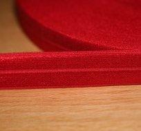 Šikmý proužek / lemovací pruženka červená