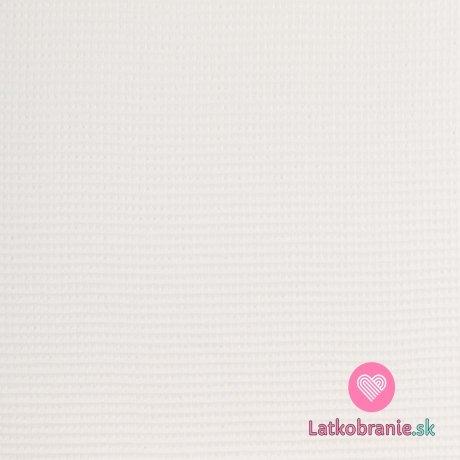 Bavlněná vaflovina jednobarevná bílá