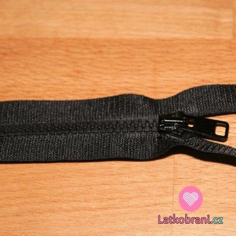 Zip kostěný dělitelný 60cm černá