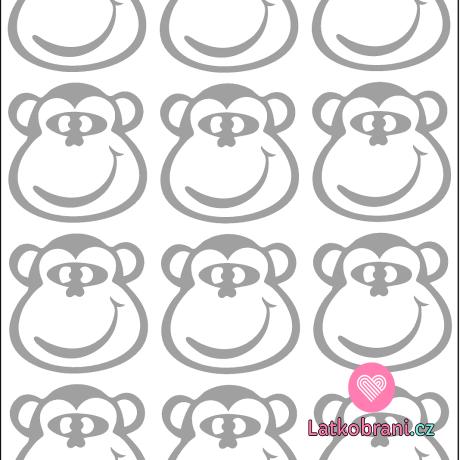Reflexní nažehlovačka opičák 12ks