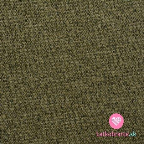 """Softshell khaki zelený melír, """"pletená"""" svrchní vrstva"""