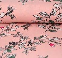 Úplet liánové květiny na růžové
