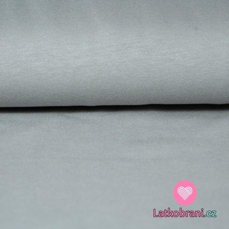Jednobarevný úplet šedý střední 180g