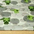 Teplákovina zelený krokodýl na šedé