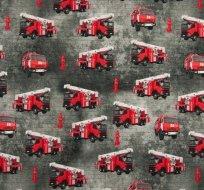 Úplet digitisk hasičské auto na šedé melé