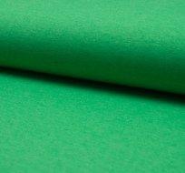 Jednobarevný úplet zelená sytá melange