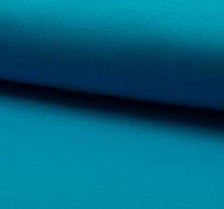 Teplákovina počesaná modrá aqua