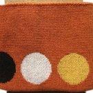 Náplet kusový 110 cm oranžová s puntíky