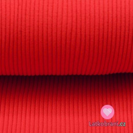 Úplet silnější žebrovaný zaprášená červená s nádechem do bordó 300g