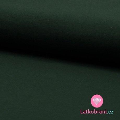 Teplákovina jednobarevná temně lahvově zelená